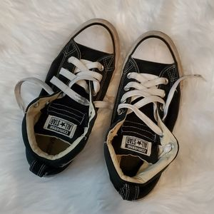 WELL WORN CONVERSE SHOES SEMI HIGH TOP